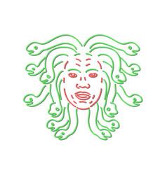Head of medusa neon sign vector