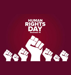 Human rights day december 10 holiday concept vector
