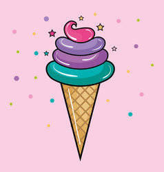 ice cream con design vector image