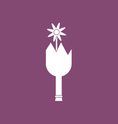 Icon broken bottle and flower vector