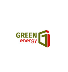 icon green energy vector image