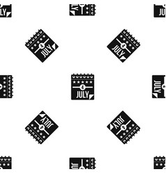Independence day pattern seamless black vector