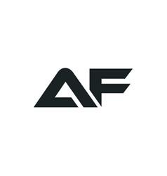 Initial letter af logo bold template vector