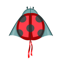 Kite ladybug iconcartoon icon vector