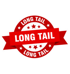 Long tail round ribbon isolated label long tail vector