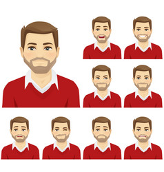 Man emotion set vector