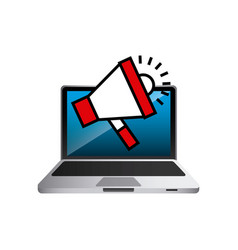 megaphone and computer vector image