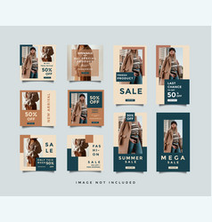 Minimalist social media post design bundle vector
