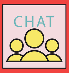 Mobile phone chat interface design template vector