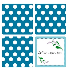 Nice card with pattern vector image