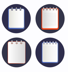 notepads on the rings vector image