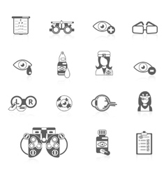Oculist black icons vector