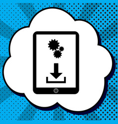 phone icon with settings symbol black vector image