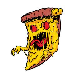 Pizza monster vector