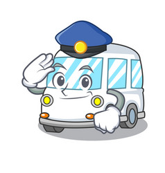 police ambulance character cartoon style vector image