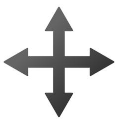 Quadro Arrows Gradient Icon vector