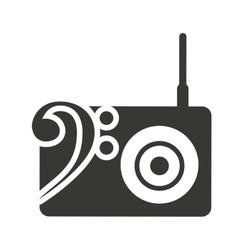radio retro silhouette isolated icon vector image