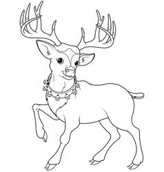 Reindeer Rudolf coloring page vector