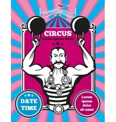 Retro vintage circus poster vector image