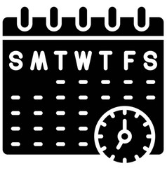 Schedule telecommuting or remote work icon vector
