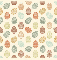 seamless pattern of colorful easter egg vector image