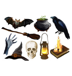 set of the halloween vector image