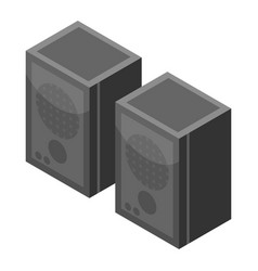 speaker set icon isometric style vector image