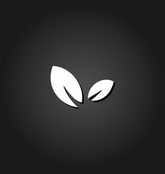 sprout icon flat vector image