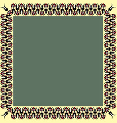 square frame with greek palmetta ornament ancient vector image