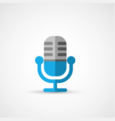 steel microphone icon vector image