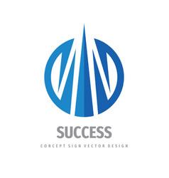 success - business logo concept design vector image