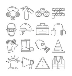Symbols of safety work protection for health vector