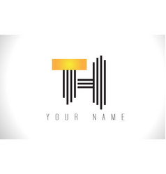 th black lines letter logo creative line letters vector image