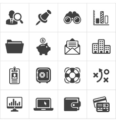 Trendy business and economics icons set 3 vector image