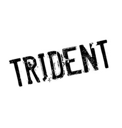 Trident rubber stamp vector
