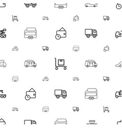 truck icons pattern seamless white background vector image