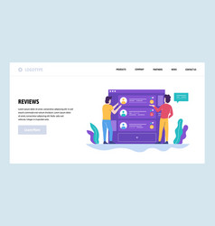 Web site design template online reviews vector