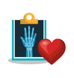 x ray service medical health isolated vector image