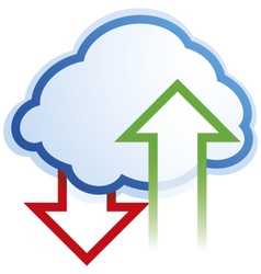 abstract cloud computing symbol vector image vector image