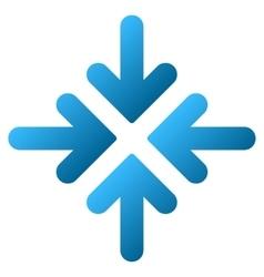 Quadro collide arrows gradient icon vector