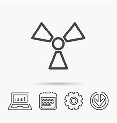 radiation icon radiology sign vector image