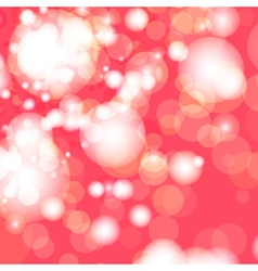 Red and white bokeh lights vector image