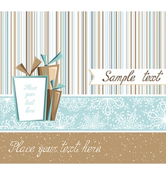 Season greeting card in retro style vector image vector image