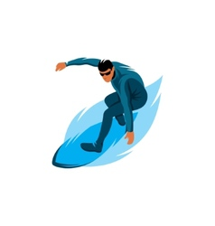 Surfing sign vector image vector image