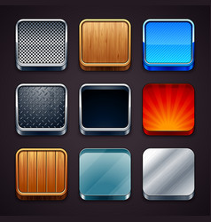 Apps icons set vector image vector image
