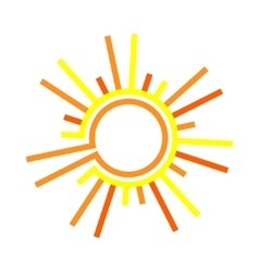 Flat the sun vector image vector image