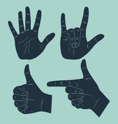 gesture vector image vector image