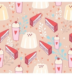 Hand drawn seamless background pattern Delicious vector image vector image