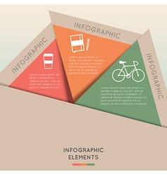 Infographic elements in triangle shape vector