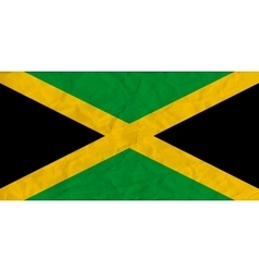 Jamaica paper flag vector image vector image